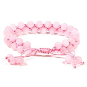 Armband rozenkwarts — 0.6 cm
