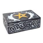 Tarotdoos Pentagram zeepsteen -- 15x10 cm
