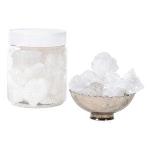 Bergkristal chips M in pot — 600 g; 2.5-4 cm