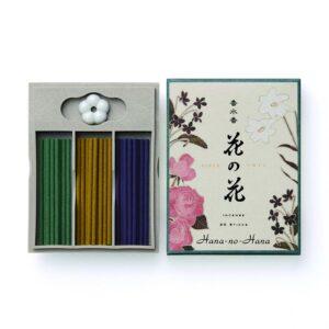 Hana no hana wierook giftbox roos/lelie/viooltje — 40 g; 5.