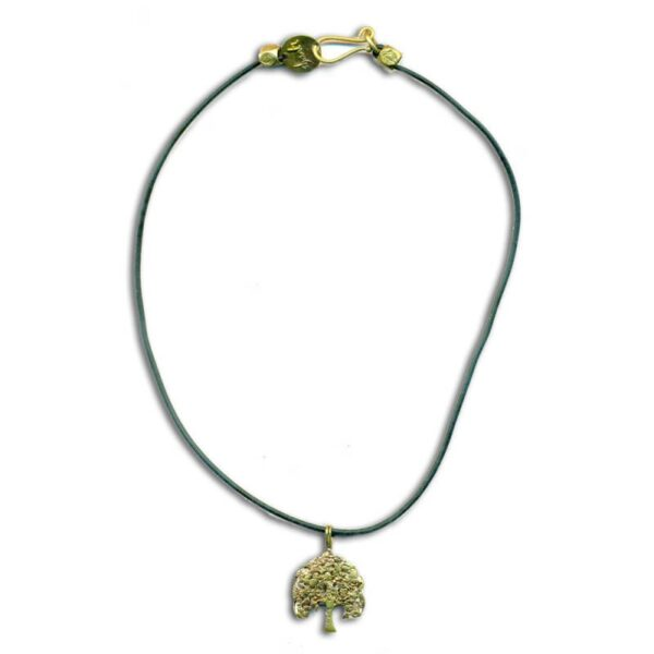 bodhiboom rubber ketting gerecycled messing 45 cm 1