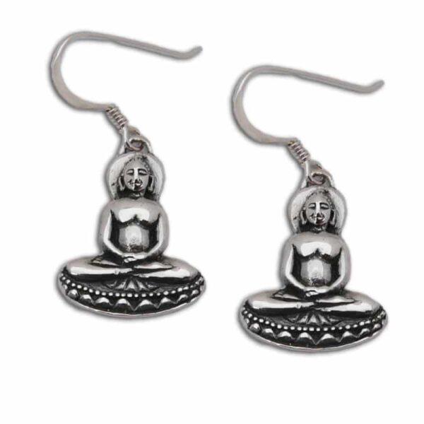 boeddha oorbellen zilver 2 cm 1