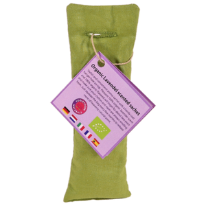 Lavendel geurzakje biologisch Olijf Groen — 5.5×17 cm